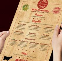 Stanford Gourmet Burger carta de menú. . A Design, Graphic Design, and Product Design project by Meritxell Yépez Muñoz         - 02.03.2017