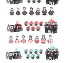 Dibujo e ilustración de personajes para un catálogo de cursos de Edutecno, 2016.. A Character Design project by Mariela Paz Moyano         - 15.08.2016