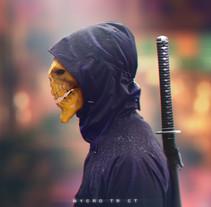 Ninja Skull. A 3D project by Dante R.D. - 30-10-2017