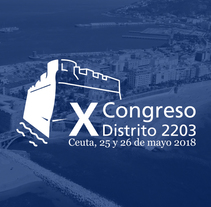 X Congreso Distrito 2203 Rotary Club Logotipado. A Br, ing, Identit, and Graphic Design project by Cristina Ygarza         - 05.10.2017