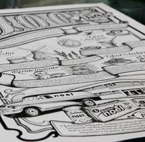 Ilustración 100 años Noel. Un proyecto de Ilustración de Oscar Geovani Vergara Arias         - 20.06.2016