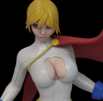 Power Girl - Modelado 3D. A 3D project by Néstor Ortiz - 18-11-2017