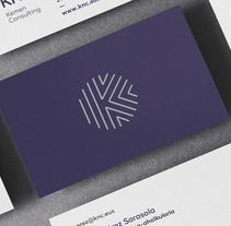 Logo and brand image - KNC.. Un proyecto de Br, ing e Identidad, Diseño gráfico y Diseño de iconos de Asier Moreno Telleria         - 20.11.2017