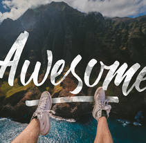 Awesome (Lettering). A Lettering project by Stanley Garcia         - 24.11.2017