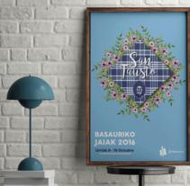 Cartel Fiestas de Basauri 2016. Un proyecto de Diseño gráfico de Jon Ander Vázquez Merchán         - 26.09.2016