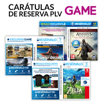 Carátulas de Reserva PLV GAME. A Graphic Design project by Fernando Escolar López-Roso         - 29.11.2017