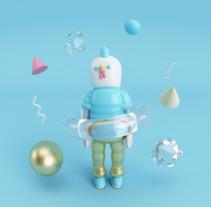 Mi project in Diseño de personajes en Cinema 4D: del boceto a la impresión 3D course. Un proyecto de 3D de Deyanira Guerrero         - 15.11.2017