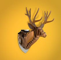 Deer Head. Un proyecto de Ilustración, 3D, Animación y Diseño gráfico de Jose Roberto Monje Flores         - 30.11.2017