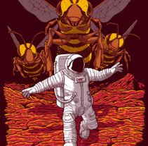 Killer Bees on Mars. A Illustration project by JCMaziu          - 15.12.2017