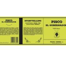 Etiqueta y packaging - Pisco el Gobernador . A Product Design project by Helena Garriga Gimenez         - 10.11.2015