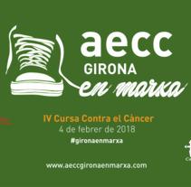 """Vinilo Bus """"IV Cursa Contra el Càncer Girona en Marxa"""". Un proyecto de Diseño, Ilustración, Multimedia y Lettering de Adrià Salido Zarco         - 22.12.2017"""