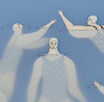 The swimmers. Um projeto de Ilustração, Artes plásticas e Colagem de Sonia Alins Miguel         - 27.10.2017