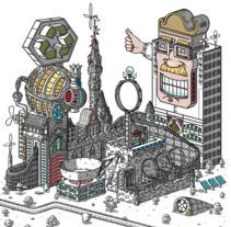 Javier Arrés Visual Toy (Gif ). Un proyecto de Ilustración y Animación de Javier Arrés         - 08.01.2018