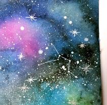 Mi Proyecto: Técnicas modernas de Acuarela - Galaxia. Um projeto de Design e Ilustração de Yiss MarLom         - 10.01.2018