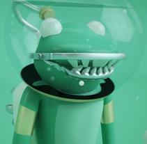 Mi Proyecto del curso: Diseño de personajes en Cinema 4D: del boceto a la impresión 3D. Un proyecto de 3D, Diseño de personajes, Diseño gráfico y Diseño de juguetes de Dennis Rocha         - 11.01.2018