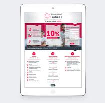 Universidad online Isabel I. Um projeto de Design, Publicidade, Design gráfico, Marketing, Multimídia, Web design e Infografia de Fernando Serra Antón         - 13.01.2017