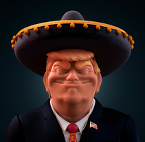 TRUMP IS DUMB. Un proyecto de Ilustración, 3D y Comic de Conspiracystudio  - 16-01-2018