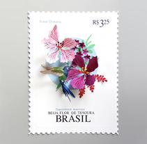 Sello postal de Brasil . A Illustration, Character Design, Crafts, Editorial Design, Fine Art, L, scape Architecture, and Paper craft project by Diana Beltran Herrera         - 30.01.2018