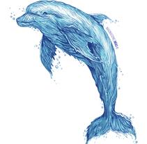 Serie Aquarium (Dibujos técnica mixta y retoque digital). Um projeto de Ilustração de Adrián Pereda Pascual         - 07.02.2018