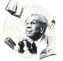 Homenaje a Jorge Luís Borges. Un proyecto de Ilustración de Franco Veloz         - 08.02.2018