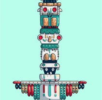 Totem. A Design, Illustration, Graphic Design, and Vector illustration project by Saray Rodríguez         - 12.02.2018