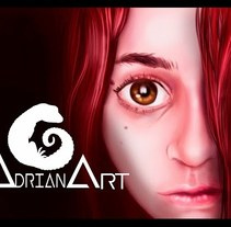 The red girl (retrato) - Speedpaint. A Illustration project by AdrianArt         - 01.03.2018