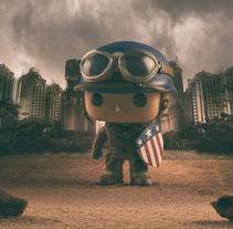 El Capitán América en la II Guerra Mundial.. A Photograph project by David Fuentes         - 16.02.2018