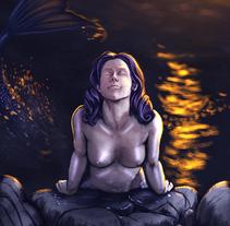 Sirena. Um projeto de Ilustração de Chema G. Baena Art - 18-02-2018