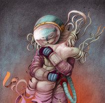 ENAMORADO DEL ETHER :: Ilustración a lápiz con color digital. A Illustration project by Luis Torres         - 15.01.2018