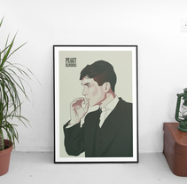 Diseño de póster sobre la serie Peaky Blinders. Um projeto de Design, Ilustração, Design gráfico e Ilustración vectorial de Javi Rodríguez         - 22.02.2018