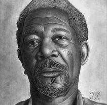 Morgan Freeman. A Illustration project by Wilson Angulo         - 28.02.2018