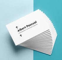 Albert Pascual. Um projeto de Br, ing e Identidade, Design gráfico e Tipografia de Jennifer Moreno Espelt         - 28.02.2018