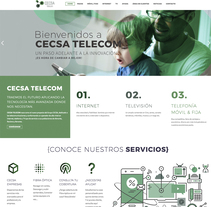 CECSA TELECOM. A Web Development project by Cristina Moreno         - 21.07.2017