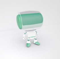 toy robot. A 3D, To, and Design project by Steven Ruiz         - 07.03.2018