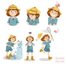 Exploradora. Un proyecto de Ilustración de Susana Gurrea         - 12.08.2016