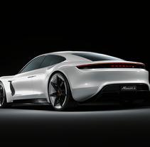 Porsche  Mission E Concept | CGI. Un proyecto de Publicidad, 3D y Diseño de automoción de Jacobo Rojo         - 14.03.2018