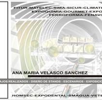 portfolio stands. Un proyecto de Diseño, 3D, Arquitectura interior, Diseño de interiores y Escenografía de Ana Maria Velasco Sanchez         - 20.03.2018