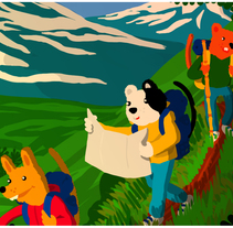 La Caminata. Un proyecto de Diseño, Ilustración y Diseño de personajes de Enestor Miranda Alarcón         - 25.03.2018