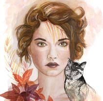 Mi Proyecto del curso: Retrato ilustrado en acuarela. Um projeto de Ilustração de opomi         - 01.04.2018